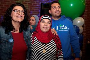 Rashida Tlaib et sa mère.