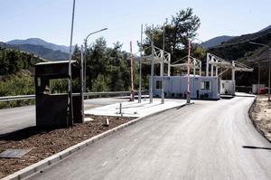 Le point de passage de Lefka est situé dans le nord-ouest de l'île.