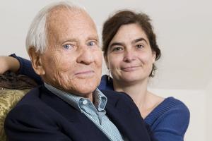 Héloïse d'Ormesson aux côtés de son père, Jean d'Ormesson, (2009).