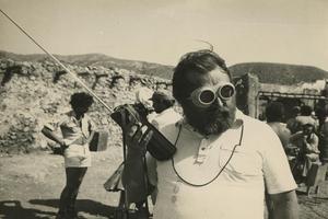 Sergio Leone surletournage d' <i>Ilétaitunefois larévolution</i>(1971).