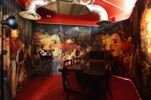 La salle «Redrum» pour les travailleurs en quête d'inspiration artistique.
