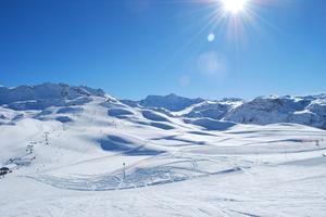 Val d'Isère, espace mythique du ski alpin.
