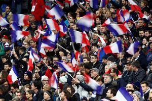 Les supporters du XV de France le 10 novembre lors de la réception de l'Afrique du Sud.