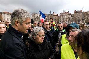 Laurent Wauquiez au Puy-en-Velay samedi.