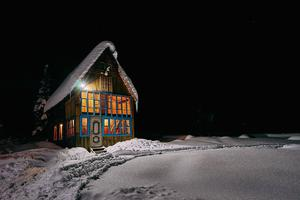 Une maison traditionnelle au fin fond de la Sibérie.
