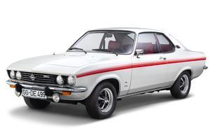 Une Opel Manta A des années 1970 .
