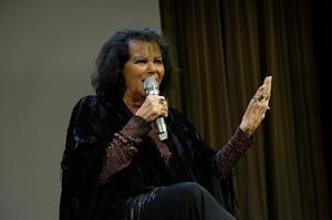 Claudia Cardinale au vernissage.