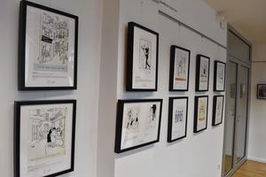 La duduchothèque exposition consacrée à Cabu à Châlons-en-Champagne, sa ville d'origine.