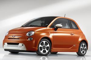 La Fiat 500 électrique commercialisée aux États-Unis depuis 2013. <br/>