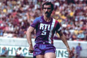 Raymond Domenech sous le maillot de Lyon en 1976.