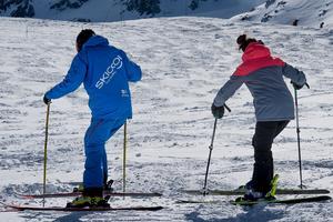 Séance de ski therapy .
