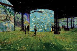 Avec son <i>Amandier en fleurs</i> (1890), on retrouve les références au Japon idéalisé par Van Gogh.