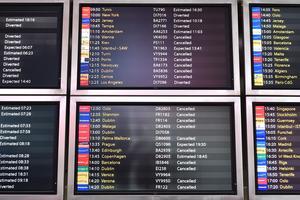 La grande majorité des 760 vols est perturbée.