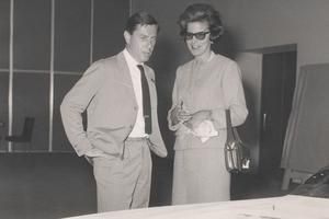 Sergio Pininfarina et la princesse de Réthy.