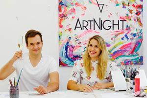 Aimie Cartensen-Henze et David Neisinger, les fondateurs d'ArtNight.