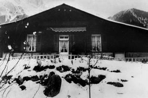 Le Chalet «Le Vieux Logis» où Alexandre Stavisky s'est tiré une balle dans la tête le 8 janvier 1934.