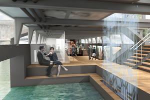 Dans la cale de l'architecture écoresponsable, la Seine entre.