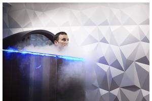 Cryothérapie à   184 °C chez Pøle (Ier).