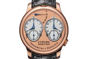 Le Chronomètre à Résonance avec affichage analogique sur 24heures, en or rouge (79.800€).