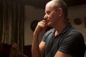 Le réalisateur Alexeï Krassovski sur le tournage de «Prazdnik».