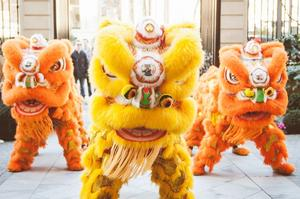 La Danse du lion au Shangri-La (XVIe).