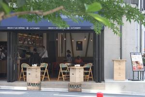 Crêperie Breizh Café à Tokyo.