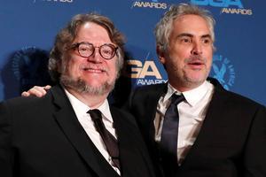 Les amis et confrères Guillermo del Toro et Alfonso Cuaron.