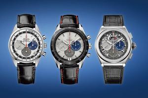 Les trois chronographes du coffret du 50 <sup>e</sup> anniversaire, édité à 50 exemplaires.