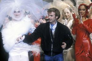 Claude Montana lors d'un de ses défilés en 1983.