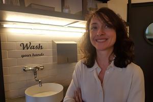 La présidente d'Écotable Fanny Giansetto, dans le restaurant Greenhouse.