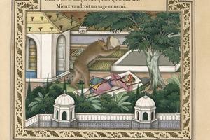 <i>L'Ours et l'Amateur des Jardins</i> par Imam Bakhsh Lahori.