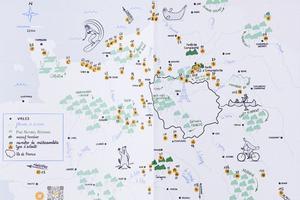Les aventures sont répertoriées sur la carte de la région.
