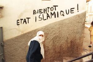 Inscription sur un mur d'Alger en 1992.