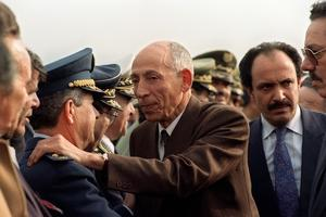 Mohammed Boudiaf, président du HCE, en 1992.