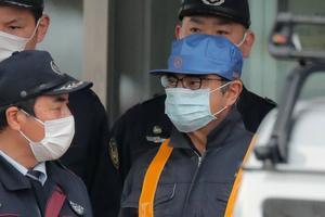 Carlos Ghosn, à sa sortie de prison mercredi.
