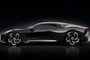 «La Voiture Noire» récupère le W16 de 8 Litres de la Chiron, qui développe 1 500 ch et 1 600 Nm de couple.