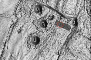 Vue satellite de l'endroit où a été détecté le drakkar.