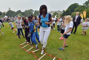 Michelle Obama avait aussi lancé un programme sportif «Let's Move! Active Schools».