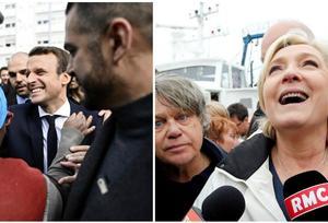 Macron à Sarcelles, Le Pen avec les pêcheurs : la guerre des images se poursuit