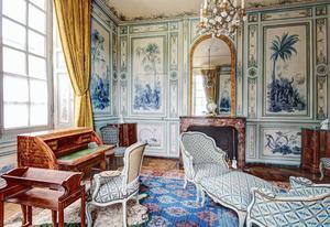 Le «Cabinet en camaïeu» duchâteau deChamps-sur-Marne (77).