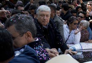 Andres Manuel Lopez Obrador, déjà en campagne.