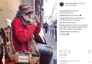 Marko dans la rue en mai 2018