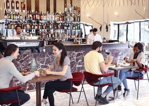 Au piedde la Maisonde la Radio (XVIe),le Zebra rallumeles codesde la brasserie moderne.