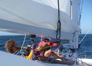 Grâce au voilier-stop, il a pu traverser les mers sans transiger sur son objectif «zéro carbone».