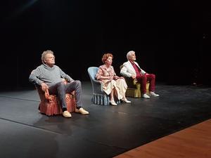 Thierry Bosc, Clotilde Mollet et Jean-Pierre Bodin ont présenté samedi 7 juillet «Les Gravats».