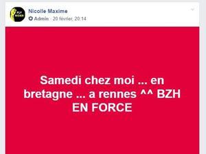 Le post de Maxime Nicolle, alias «Fly Rider».