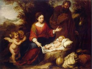 Bartolomé Esteban Murillo, Le repos pendant la fuite en Égypte (1667), Musée de l'Ermitage, Saint Petersbourg.