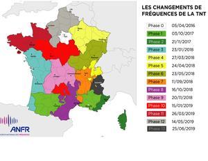 Le calendrirer des changements de fréquences de la TNT, par région.