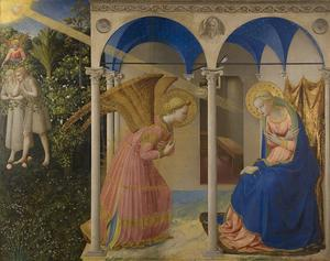 Fra Angelico, l'Annonciation faite à Marie (1430 - 1432), Musée du Prado, Madrid.