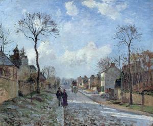 «La route de Louveciennes», Camille Pissarro 1872.